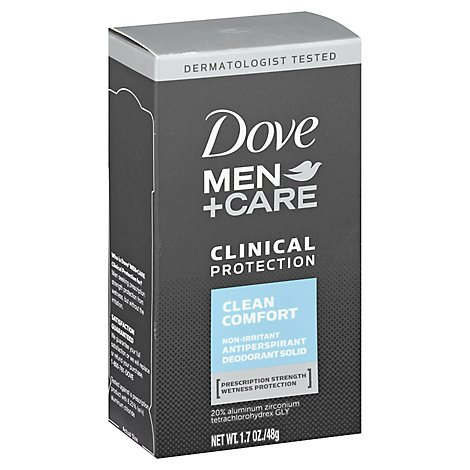 Dove Men+Care Antiperspirant Deodorant Stick Clinical Protection Clean Comfort - 1.7 Oz