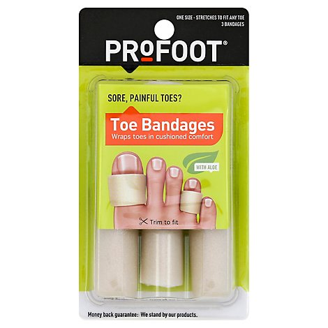 Profoot Toe Bandages - 3 Count