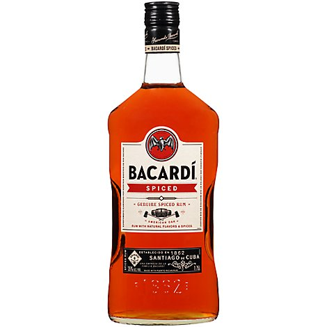 Bacardi Rum Oakheart Spiced Smooth 70 Proof - 1.75 Liter