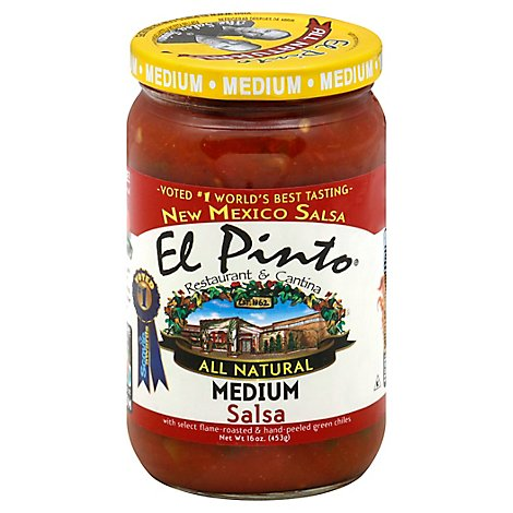 El Pinto Salsa All Natural Medium Jar - 16 Oz