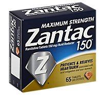 Zantac Tablets Box Bottle 150mg - 65 Count
