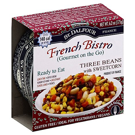 St. Dalfour Gourmet on the Go French Bistro Three Beans with Sweetcorn Box - 6.2 Oz