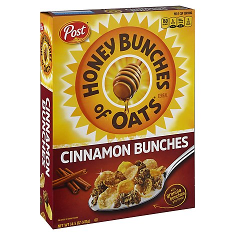 Honey Bunches of Oats Cereal With Sweet Cinnamon Bunches - 14.5 Oz