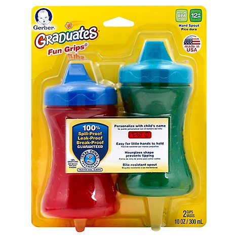 Nuk Cup Fun Grip Spill Proof 10 Oz - Each (Colors May Vary)