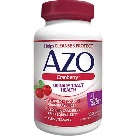 AZO Cranberry Supplement Urinary Tract Health Softgels - 100 Count