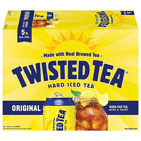 Twisted Tea Brewing Hard Iced Tea Lemon Tea Cans - 12-12 Fl. Oz.