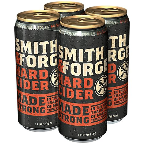 Smith & Forge Hard Cider Cans 6% ABV - 4-16 Fl. Oz.