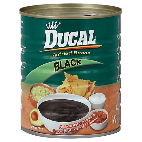 Ducal Beans Refried Black Can - 29 Oz