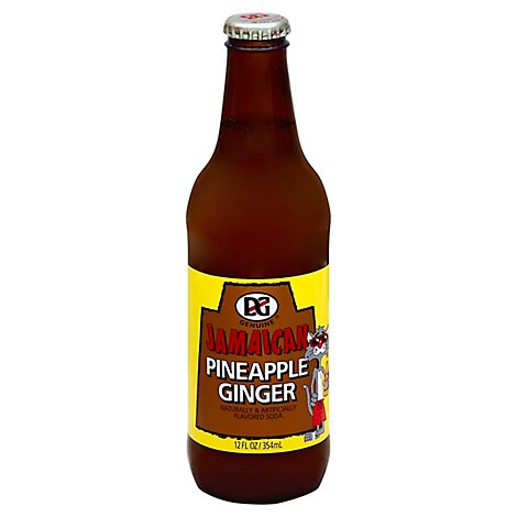D&G Soda Jamaican Pineapple Ginger - 12 Fl. Oz.
