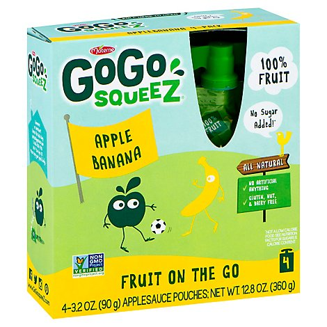 GoGo squeeZ Applesauce Apple Banana - 4-3.2 Oz
