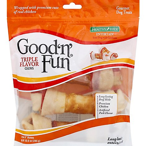 Healthy Hide Good n Fun Dog Treats Triple Flavor Bag - 3 Count