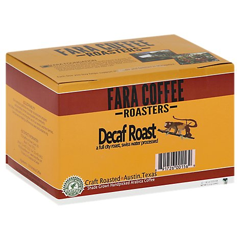 FARA COFFEE Coffee K-Cups Decaf Roast - 12-0.42 Oz