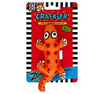 Fat Cat Catnip Toy Crackler Beaver Card - Each