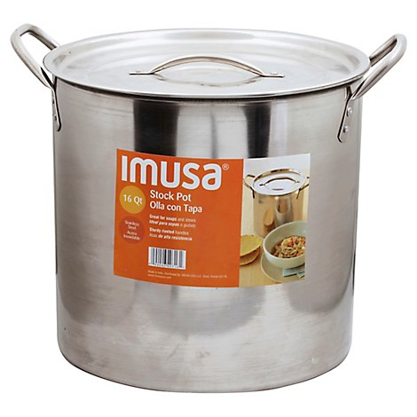 Imusa Stock Pot Ss 16quart - Each