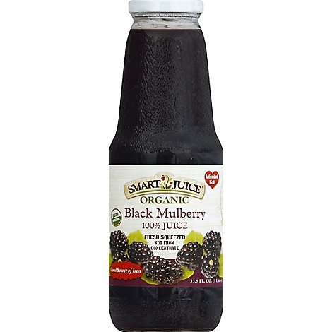 Smart Juice Black Mulberry - 33.8 Oz