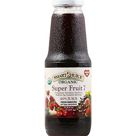 Smart Juice Super Fruit 7 Organic - 33.8 Fl. Oz.