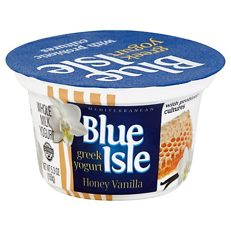 Blue Isle Greek Yogurt Honey Vanilla - 5.3 Oz