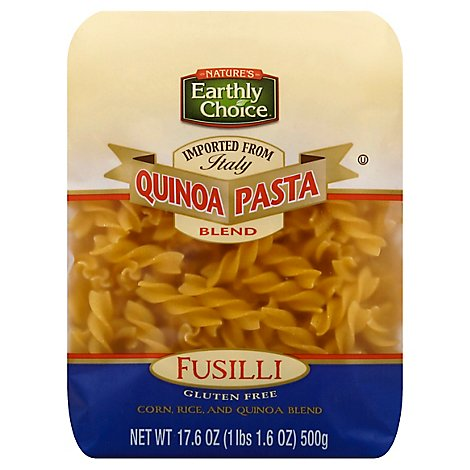 Natures Earthly Choice Quinoa Pasta Blend Gluten Free Fusilli - 17.6 Oz