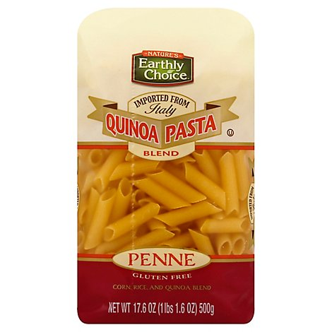 Natures Earthly Choice Quinoa Pasta Blend Gluten Free Penne - 17.6 Oz