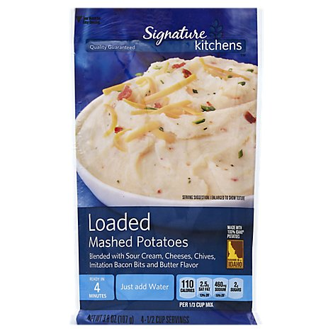 Signature Kitchens Potatoes Mashed Loaded Pouch - 3.8 Oz