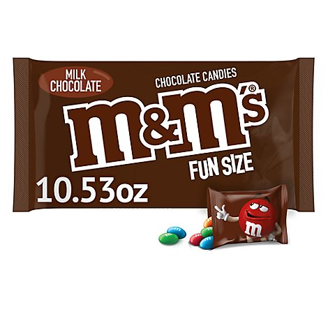 M&Ms Milk Chocolate Candies Fun Size - 10.53 Oz