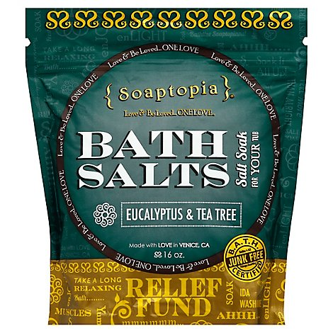 Soaptopia Salt Soak Eucapyltus - 16 Oz