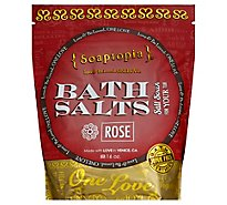 Soaptopia Salt Soak Rose - 16 Oz