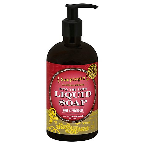 Soaptopia Rose And Patchhouli Liquid Soap - 12 Oz