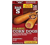 Bar-S Corn Dogs Honey Batter Dipped 16 Count - 42.72 Oz
