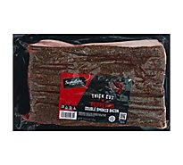 Signature Farms Bacon Thick Sliced Peppered - 3 Lb