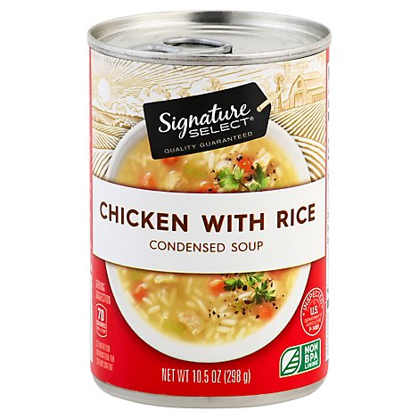 Signature SELECT Soup Condensed Chicken with Rice - 10.5 Oz