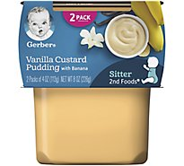 Gerber 2nd Foods Van Custard Pdg W/Bananas - 2-3.5 Oz
