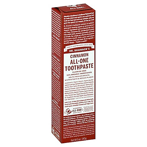 Dr. Bronners Toothpaste All One Cinnamon - 5 Oz