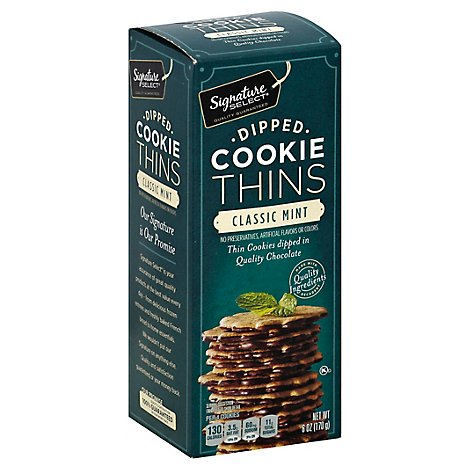 Signature SELECT Cookie Thins Dipped Classic Mint - 6 Oz