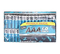 Signature SELECT/Home Batteries Alkaline AAA Guaranteed Long Lasting Family Pack - 60 Count