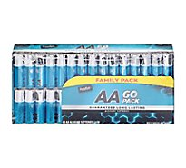 Signature SELECT/Home Batteries Alkaline AA Guaranteed Long Lasting Family Pack - 60 Count