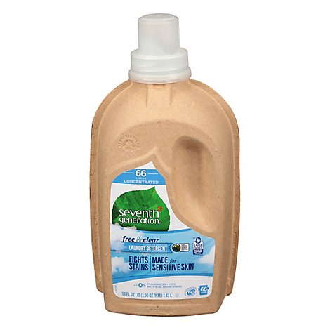 Seventh Generation Laundry Detergent Concentrated Liquid Free & Clear - 50 Fl. Oz.