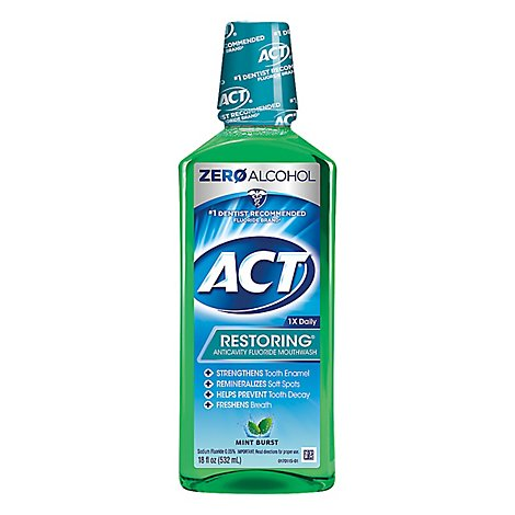 ACT Mouthwash Anticavity Fluoride Mint Burst - 18 Z
