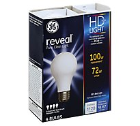 GE Reveal 72 Watt A19 4 Pk - 4 Count
