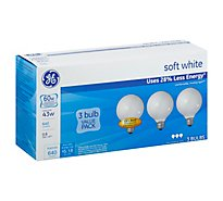 GE Light Bulbs Soft White G25 60 Watts - 3 Count