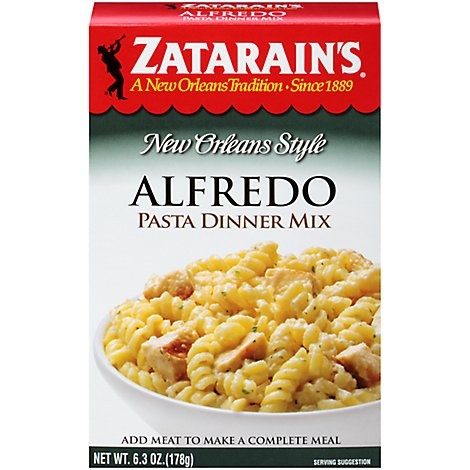 Zatarains New Orleans Style Pasta Dinner Mix Alfredo Box - 6.3 Oz