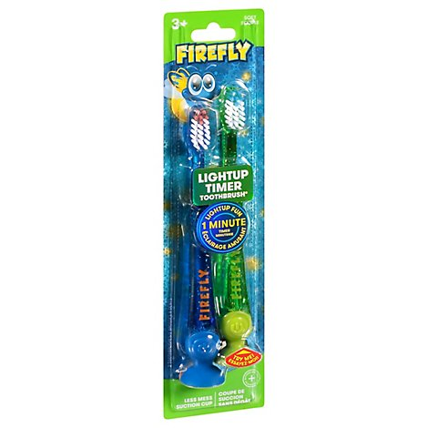 Firefly Light-Up Timer Toothbrushes - 2 Count