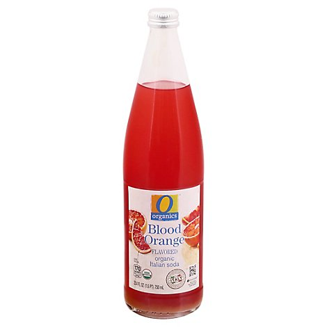 O Organics Organic Italian Soda Blood Orange Flavored - 25.4 Fl. Oz.