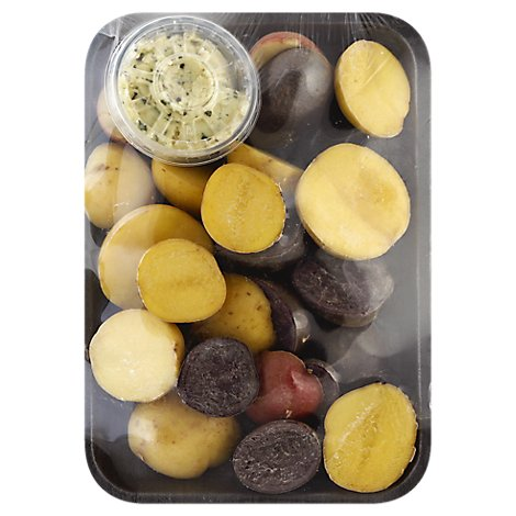 Fresh Cut Potato Medley With Roasted Garlic Herb Butter - 12 Oz