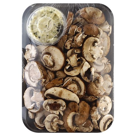 Fresh Cut Mushrooms With Roasted Garlic Butter - 12 Oz