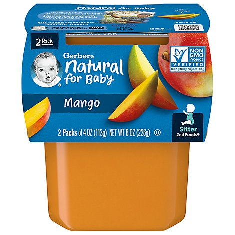 Gerber 2nd Foods Baby Food Sitter Mango - 2-4 Oz