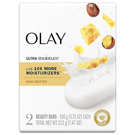 Olay Ultra Moisture Shea Butter Beauty Bar - 2-3.75 Oz