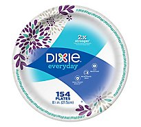Dixie Everyday Paper Plates Printed 8 1/2 Inch - 154 Count