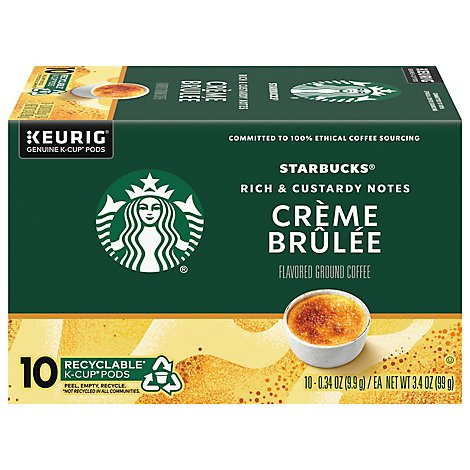 Starbucks Coffee K-Cup Pods Flavored Creme Brulee Box - 10-0.34 Oz