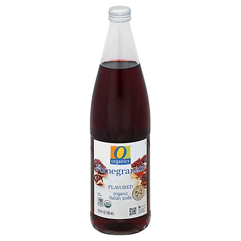 O Organics Organic Italian Soda Pomegranate - 750 Ml